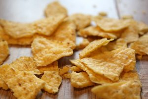 Doritos corn chips are an easy way to get a fire started