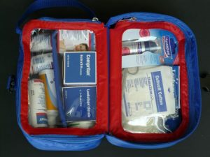 A well stocked first aid kit