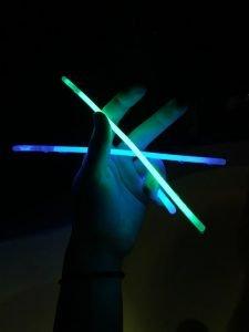 Glow sticks will entertain kids at night while camping