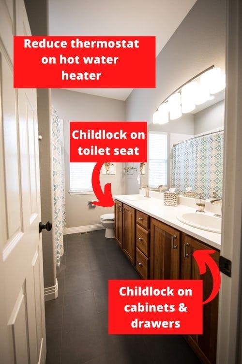 Baby proofing the bathroom checklist