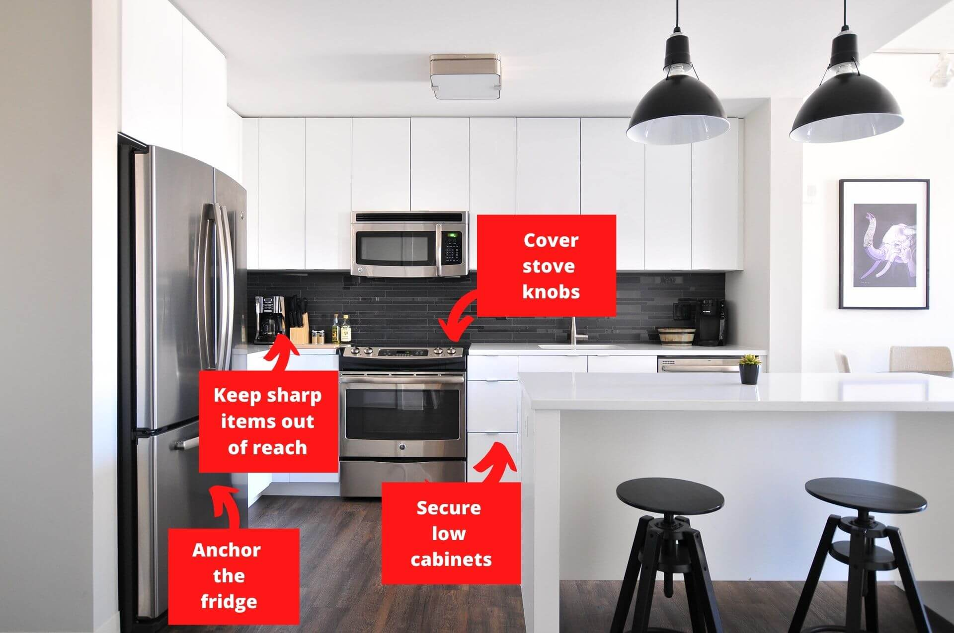 Infographic baby proofing the kitchen